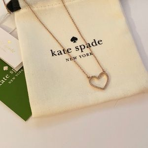 Kate Spade pave heart necklace